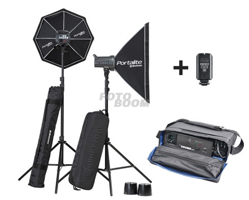 Kit 2 Flashes Elinchrom D-LITE RX4 SOFTBOX TO GO + Explorer XT